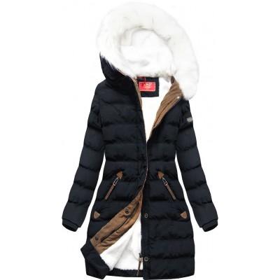 Zimná dámska bunda tmavomodá (A913)