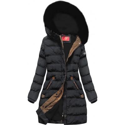 Zimná dámska bunda tmavošedá (A913)