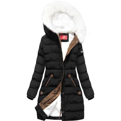 Zimná dámska bunda čierna (A913)