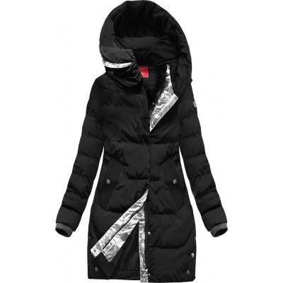 Zimná dámska bunda čierna 1(M-123)