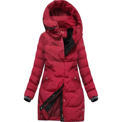 Zimná dámska bunda červená  (M-123)
