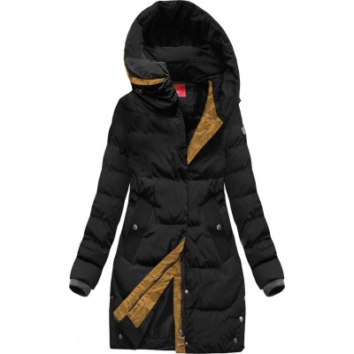 Zimná dámska bunda čierna 2 (M-123)