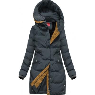Zimná dámska bunda tmavošedá (M-123)