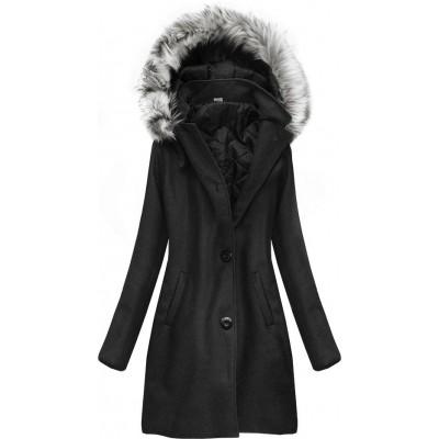 Dámsky zimný kabát čierny (513ART)
