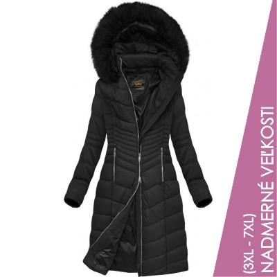 Prešívaná dámska zimná bunda čierna (7762BIG)