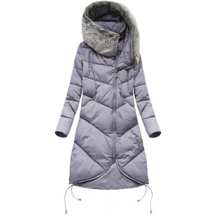 Dámska zimná bunda fialová  (J18-002)
