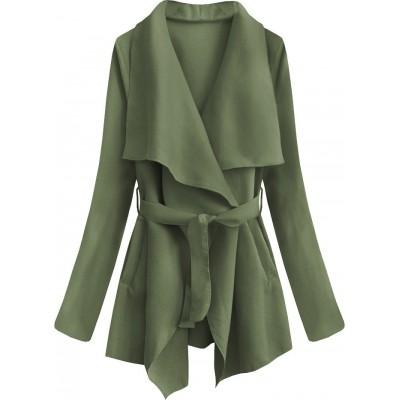 Dámsky jarný plášť zelený (553ART)