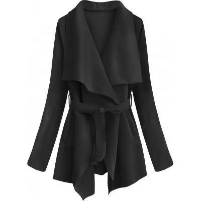 Dámsky jarný plášť čierny (553ART)