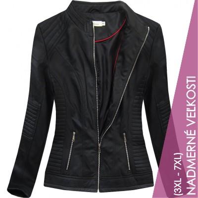 Dámska koženková bunda čierna (TD1136)