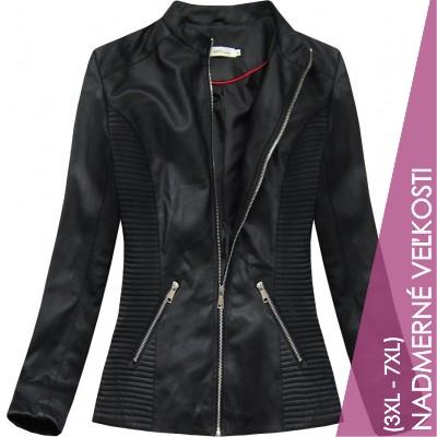 Dámska koženková bunda čierna (TD2025)