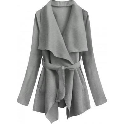 Dámsky jarný plášť šedý (553ART)