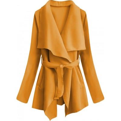 Dámsky jarný plášť žltý (553ART)