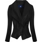Dámska koženková bunda čierna (C8002)