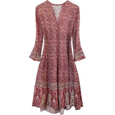 Dámske šaty ružové (574/1ART)