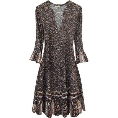 Dámske šaty čierne (574/1ART)