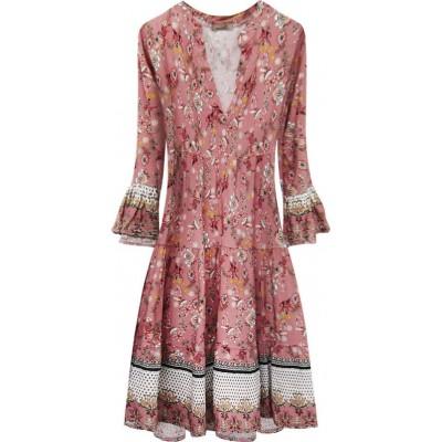Dámske šaty ružové  (574/2ART)