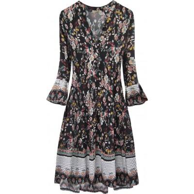 Dámske šaty čierne (574/2ART)
