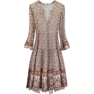 Dámske šaty ecru (574/3ART)
