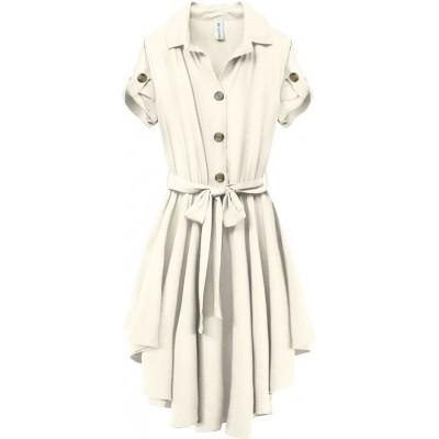 Dlhá ľahká košeľa biela (578ART)