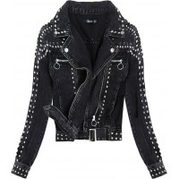 >Dámska jeansová bunda čierna (L1815)