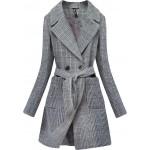 Dámsky klasický kabát šedý (X2701-2X)