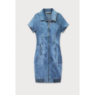 Dámske jeansové šaty modré (GD1036)