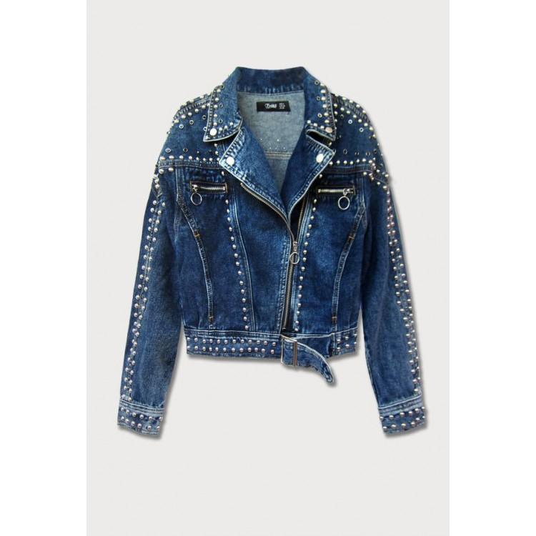 >Dámska jeansová bunda modrá (L1815)