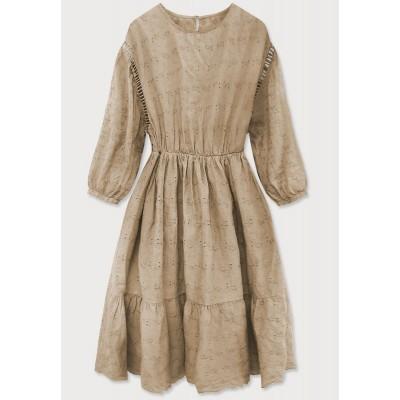 Dámske šaty béžové (615ART)