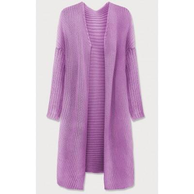 Dámsky sveter kardigan fialový (614ART)