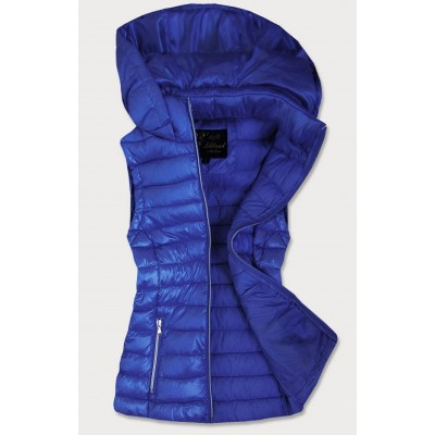 Dámska lesklá vesta modrá (7000)