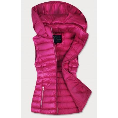Dámska lesklá vesta ružová (7000)