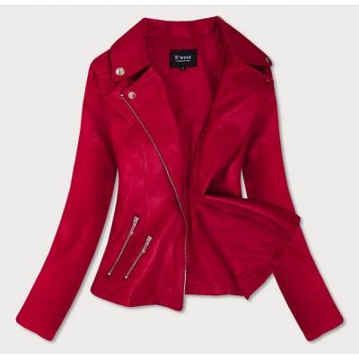 Dámska koženková bunda červená (R18)