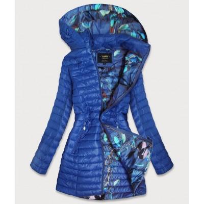 Dámska dlhá jesenná bunda modrá  (7178)