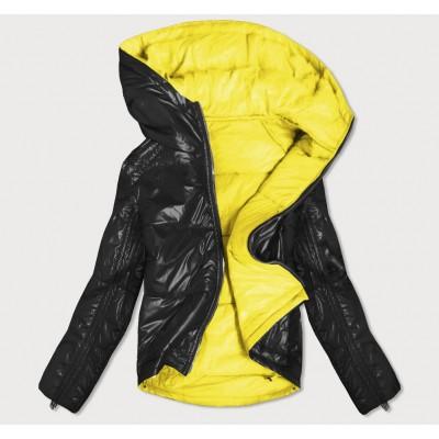 Dámska obojstranná jesenná bunda čierno-žltá (B9553)