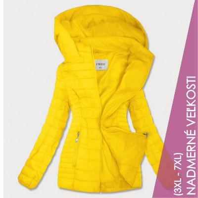 Dámska jesenná bunda žltá (B0103)