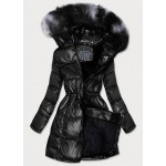 Dámska zimná bunda čierna (B9528)