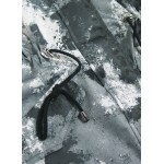 Obojstranná zimná bunda bielo-čierna (X003X)
