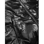 Obojstranná metalická jesenná bunda strieborno-čierna (GWW1908)