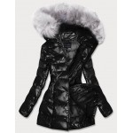 Dámska lesklá zimná bunda čierna (GWW1939)