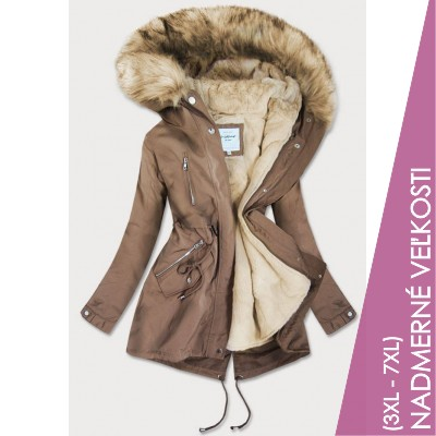 Dámska zimná bunda hnedá (3399B)