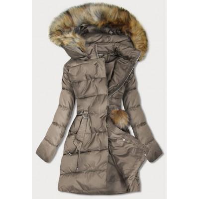 Dámska zimná bunda hnedá (GWW1988)