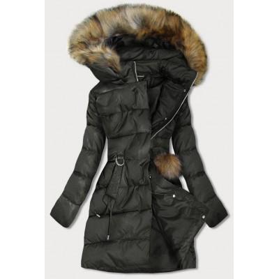 Dámska zimná bunda khaki (GWW1988)