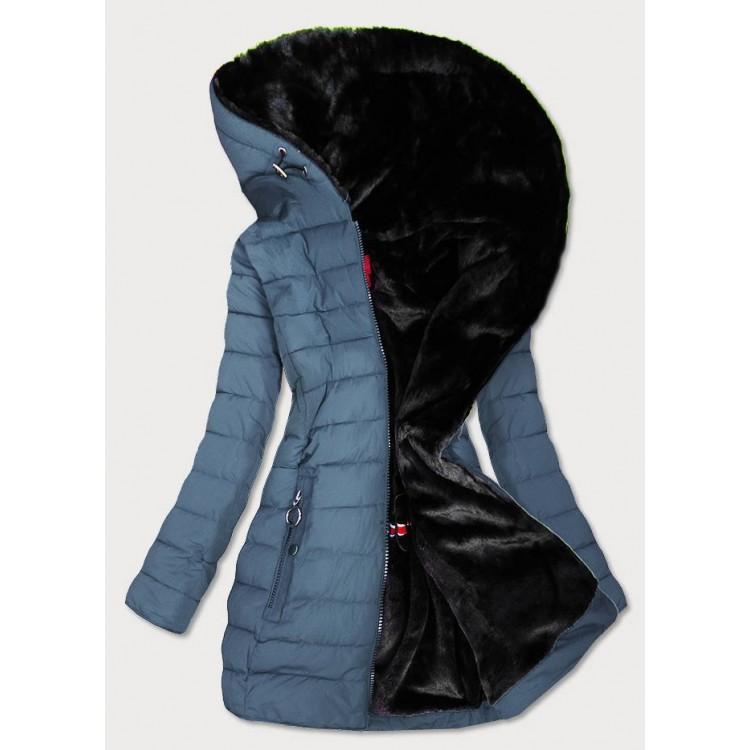Vodeodolná dámska zimná bunda modrá  (M-13)