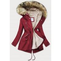 Dámska zimná bunda červená (3399B)