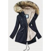 Dámska zimná bunda tmavomodrá (3399B)