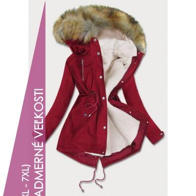 Dámska zimná bunda parka bordová (1998A)