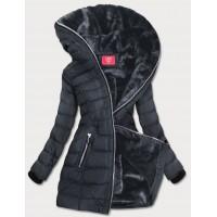Prešívaná dámska zimná bunda tmavošedá (M-133)