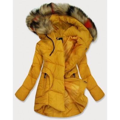 Dámska prešívaná zimná bunda žltá  (209-1)