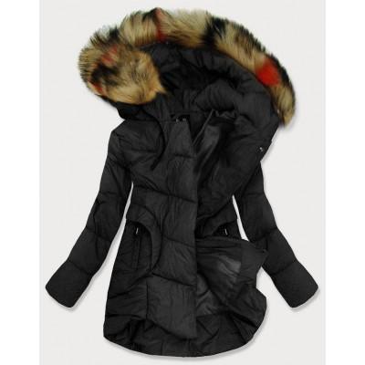 Dámska prešívaná zimná bunda čierna (209-1)