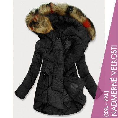 Dámska prešívaná zimná bunda čierna (209-2BIG)